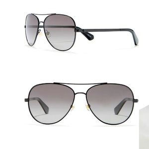 Kate Spade ♠️ 58mm aviator sunglasses NEW w/ case